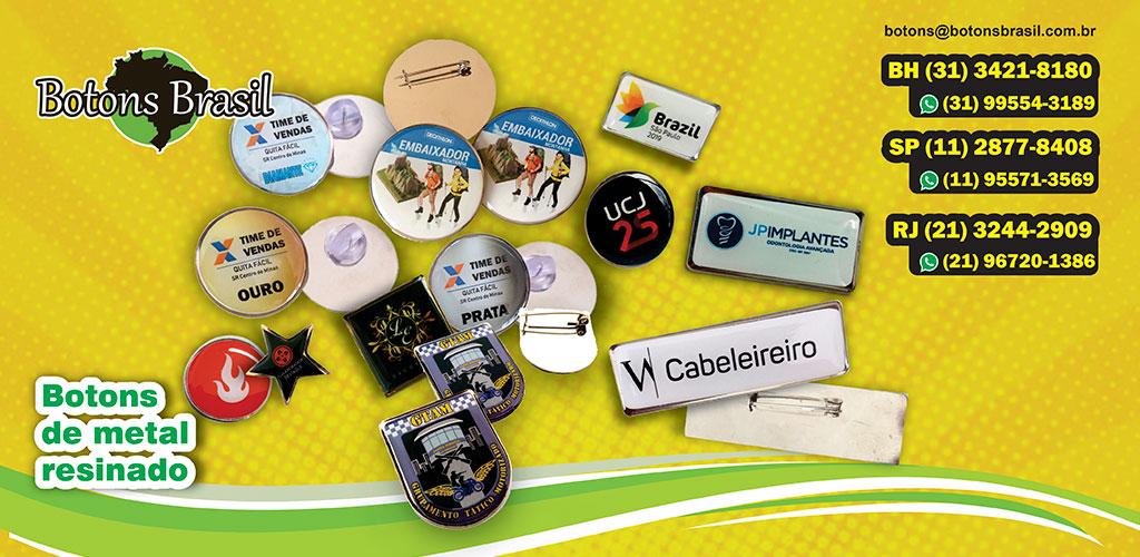 Botons De Metal Personalizado Brasil